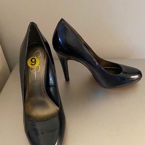 New Jessica Simpson navy patent leather heels